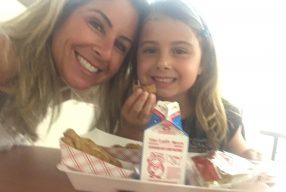 Almoço na escola americana