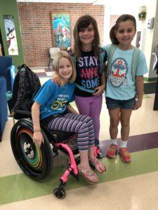 Cadeira de rodas e as crianças